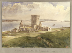 North-West View of the Abbey Church, Iona Sept 1848